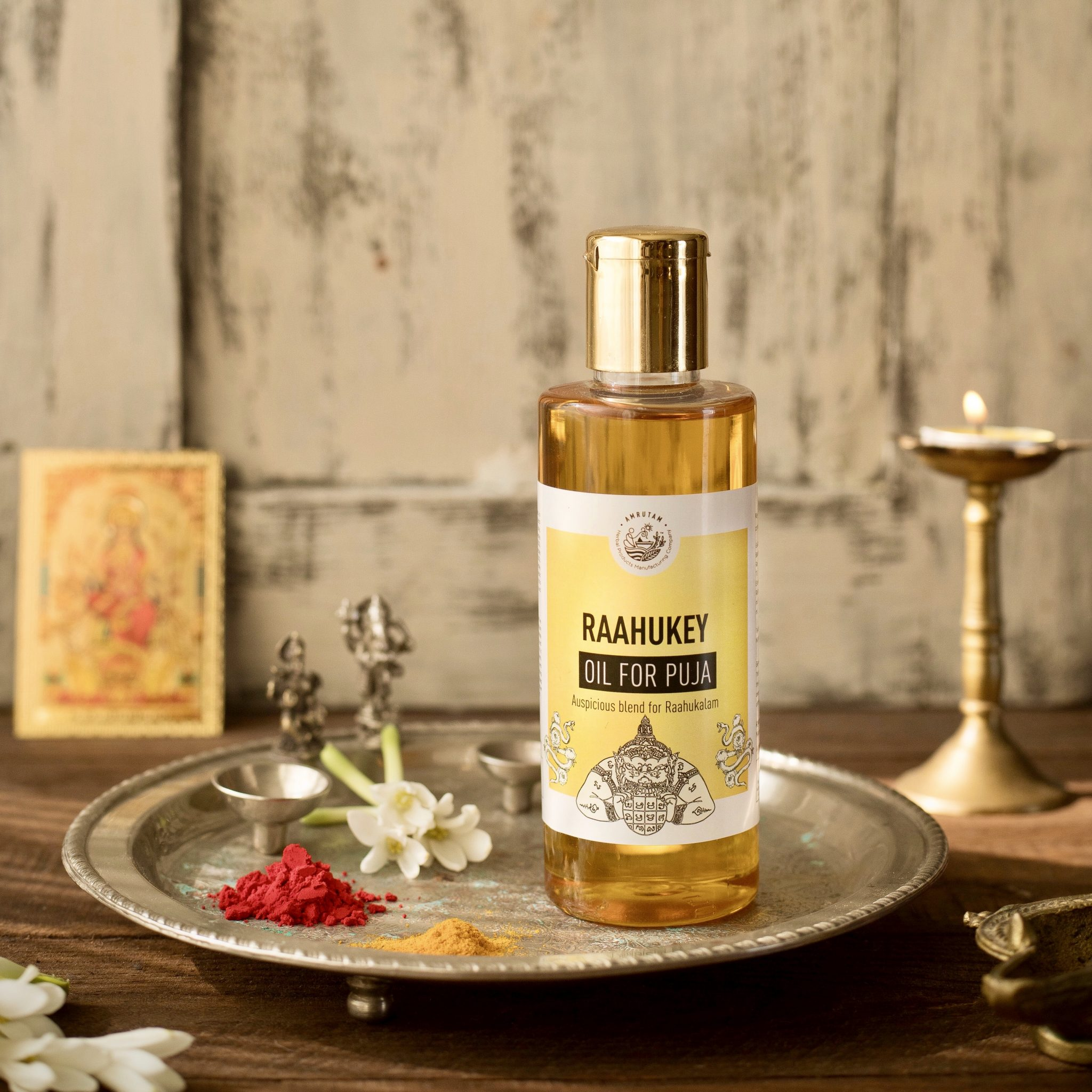 Raahukey Oil for Puja - Auspicious Blend for Raahukalam