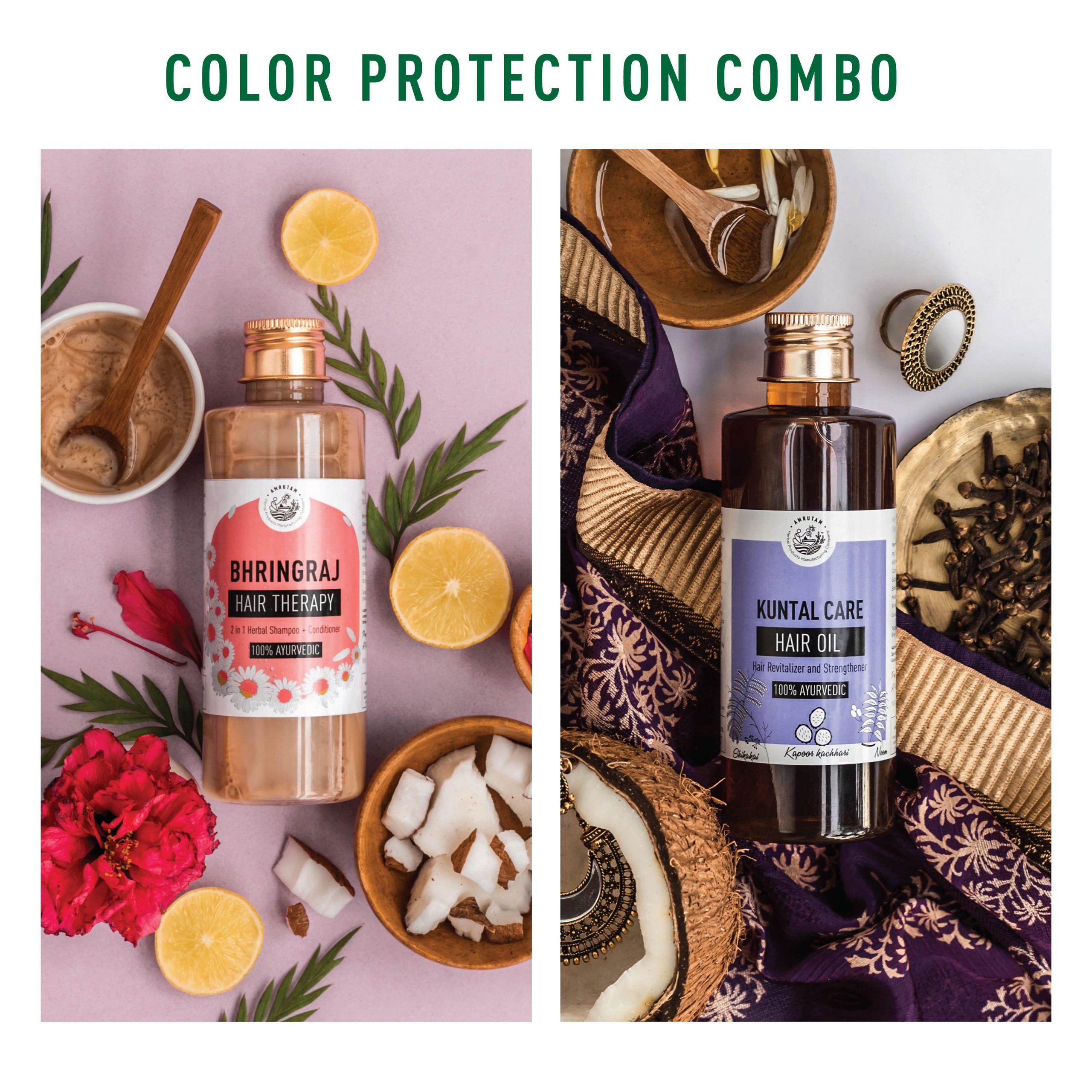 Bhringraj Hair Therapy- 2 in 1 Herbal Shampoo and Conditioner